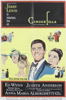 CINDERFELLA MOVIE CAST - ORIGINAL ONE SHEET UNSIGNED CIRCA 1967