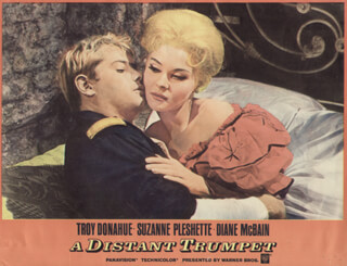 DISTANT TRUMPET MOVIE CAST - LOBBY CARD UNSIGNED (USA) 1964
