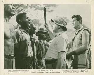 AFRICA ABLAZE! - LOBBY CARD UNSIGNED (USA)