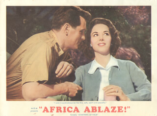 Autographs: AFRICA ABLAZE! - LOBBY CARD UNSIGNED (USA)