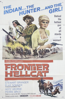 FRONTIER HELLCAT MOVIE CAST - ORIGINAL ONE SHEET UNSIGNED CIRCA 1966