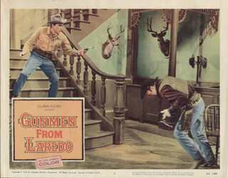 GUNMEN FROM LAREDO MOVIE CAST - LOBBY CARD UNSIGNED (USA) 1959