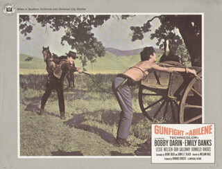 GUNFIGHT IN ABILENE MOVIE CAST - LOBBY CARD UNSIGNED (USA) 1967