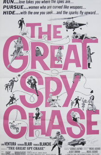 THE GREAT SPY CHASE MOVIE CAST - ORIGINAL ONE SHEET UNSIGNED