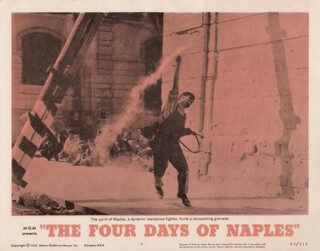 THE FOUR DAYS OF NAPLES MOVIE CAST - LOBBY CARD UNSIGNED (USA)