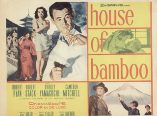 HOUSE OF BAMBOO MOVIE CAST - LOBBY CARD UNSIGNED (USA)