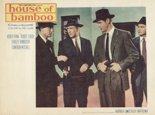 HOUSE OF BAMBOO MOVIE CAST - LOBBY CARD UNSIGNED (USA) 1955
