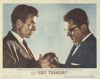 CRY TERROR MOVIE CAST - LOBBY CARD UNSIGNED (USA) 1958