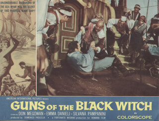 GUNS OF THE BLACK WITCH MOVIE CAST - LOBBY CARD UNSIGNED (USA) 1961