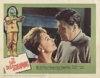 THE EARTH DIES SCREAMING MOVIE CAST - LOBBY CARD UNSIGNED (USA) 1964