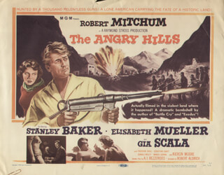 ANGRY HILLS MOVIE CAST - LOBBY CARD UNSIGNED (USA) 1959