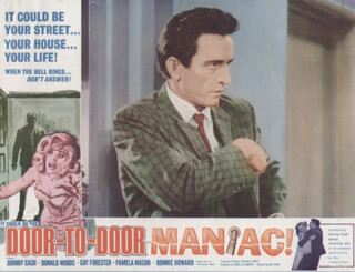 DOOR-TO-DOOR MANIAC MOVIE CAST - LOBBY CARD UNSIGNED (USA) 1966