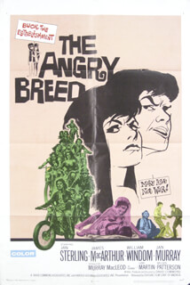 THE ANGRY BREED MOVIE CAST - ORIGINAL ONE SHEET UNSIGNED 1968