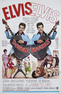 DOUBLE TROUBLE MOVIE CAST - ORIGINAL ONE SHEET UNSIGNED 1967
