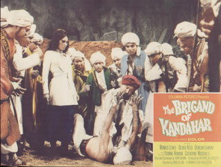 THE BRIGAND OF KANDAHAR MOVIE CAST - LOBBY CARD UNSIGNED (USA) 1965