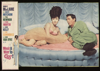 WHAT A WAY TO GO MOVIE CAST - LOBBY CARD UNSIGNED (USA) 1964