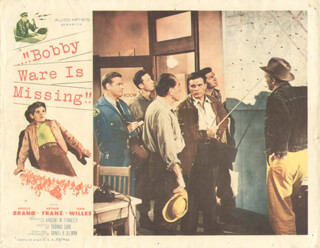 BOBBY WARE IS MISSING MOVIE CAST - LOBBY CARD UNSIGNED (USA) 1955