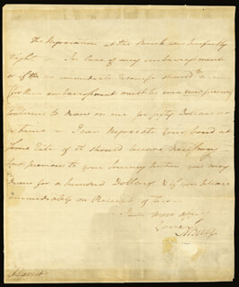 VICE PRESIDENT AARON BURR - AUTOGRAPH LETTER SIGNED 12/06/1791