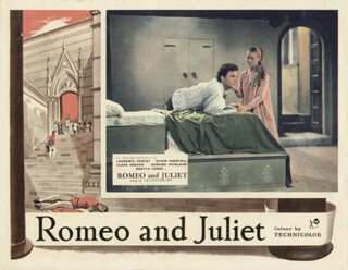 ROMEO & JULIET MOVIE CAST - LOBBY CARD UNSIGNED (USA) 1954