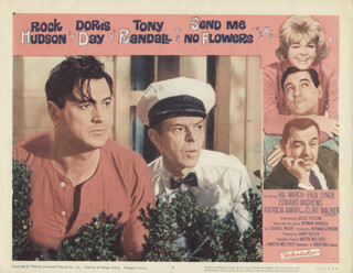 SEND ME NO FLOWERS MOVIE CAST - LOBBY CARD UNSIGNED (USA) 1964