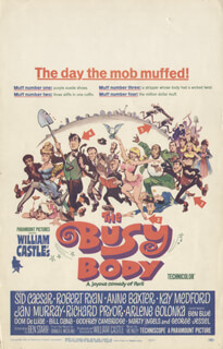 BUSY BODY MOVIE CAST - LOBBY CARD UNSIGNED (USA) 1966
