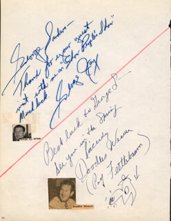 DOODLES WEAVER - AUTOGRAPH NOTE SIGNED CO-SIGNED BY: GEORGE JAY, REX ALLEN