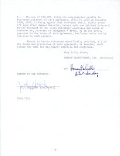 JUDY HOLLIDAY - CONTRACT SIGNED 11/23/1960