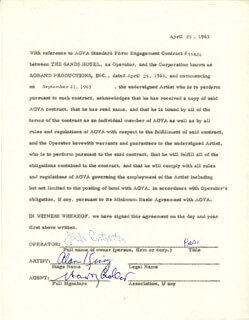 ALAN KING - DOCUMENT SIGNED 04/25/1963