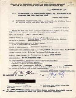 ED McMAHON - DOCUMENT MULTI-SIGNED 09/23/1968