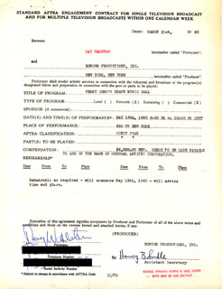 RAY WALSTON - CONTRACT SIGNED 03/21/1960
