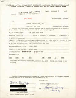 DAVE BARRY - CONTRACT SIGNED 11/08/1955