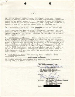 TOM BOSLEY - CONTRACT SIGNED 10/01/1963