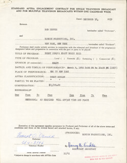 BOB DENVER - CONTRACT SIGNED 12/18/1959