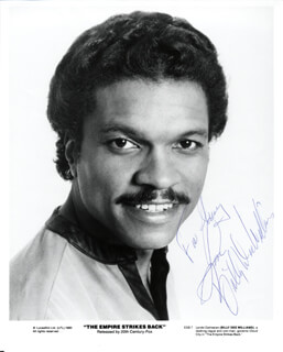 BILLY DEE WILLIAMS - AUTOGRAPHED SIGNED PHOTOGRAPH CIRCA 1980
