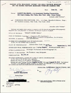ROCKY GRAZIANO - CONTRACT SIGNED 06/18/1968