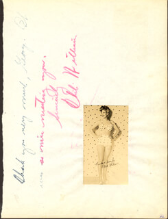 CHILI WILLIAMS - AUTOGRAPH NOTE SIGNED