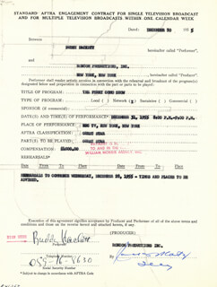 BUDDY HACKETT - CONTRACT SIGNED 12/20/1955
