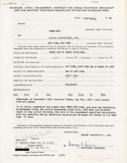 GENEVIEVE - CONTRACT DOUBLE SIGNED 03/21/1960