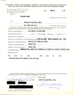 GEORGIA GIBBS - CONTRACT SIGNED 06/01/1956