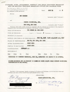 PAT HENNING - CONTRACT SIGNED 07/11/1956