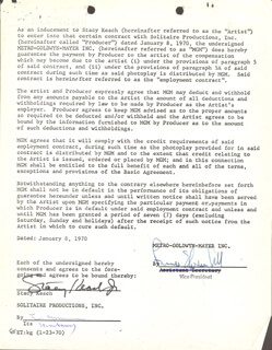 STACY KEACH - DOCUMENT SIGNED 01/08/1970