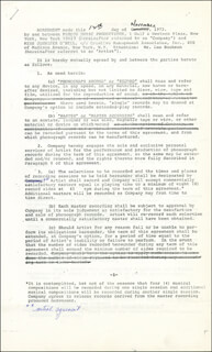 JENNIFER O'NEILL - CONTRACT SIGNED 11/12/1973
