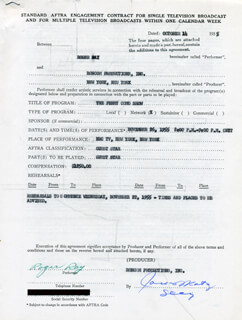 ROGER RAY - CONTRACT SIGNED 10/14/1955