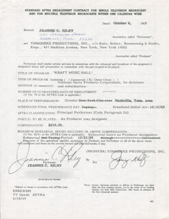 JEANNIE C. RILEY - CONTRACT SIGNED 10/08/1969