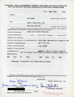 ANN THOMAS - CONTRACT SIGNED 04/13/1960