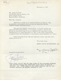 ARMY ARCHERD - DOCUMENT SIGNED 11/02/1970