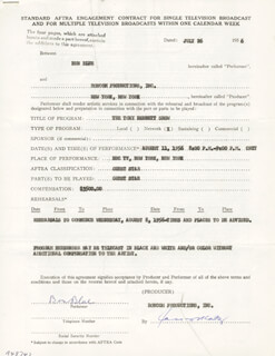BEN BLUE - CONTRACT SIGNED 07/26/1956