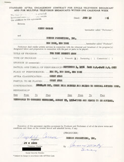 MINDY CARSON - CONTRACT SIGNED 06/12/1956