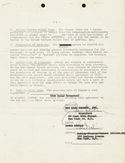 PETER DUCHIN - CONTRACT DOUBLE SIGNED 07/31/1963