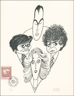 AL HIRSCHFELD - PRINTED ART SIGNED IN PENCIL 1991